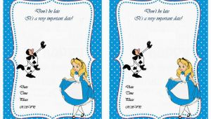 Free Printable Alice In Wonderland Birthday Invitations Free Printable Alice In Wonderland Birthday Invitations
