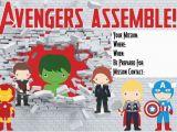Free Printable Avengers Birthday Party Invitations 7 Best Images Of Free Avengers Printable Birthday