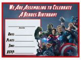Free Printable Avengers Birthday Party Invitations Free Avengers Age Of Ultron Printable Party Decoration