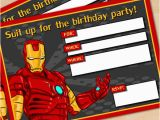 Free Printable Avengers Birthday Party Invitations Free Printable Avengers Iron Man Birthday Invitation