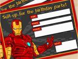 Free Printable Avengers Birthday Party Invitations Free Printable Avengers Iron Man Birthday Invitation