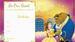 Free Printable Beauty and the Beast Birthday Invitations Free Printable Beauty and the Beast Royal Invitation