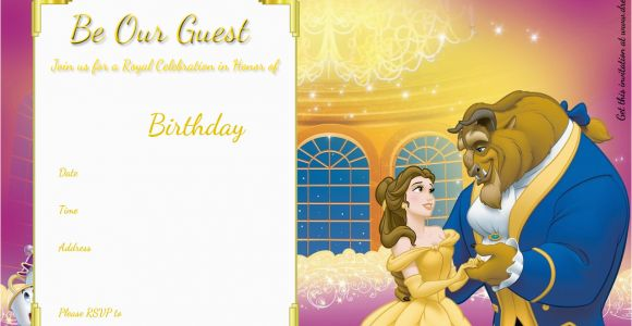 Free Printable Beauty and the Beast Birthday Invitations Free Printable Beauty and the Beast Royal Invitation