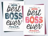 Free Printable Birthday Cards for Boss Boss 39 S Day Card Thanks for Being the Best Boss Ever