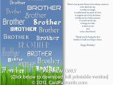 Free Printable Birthday Cards for Brother 8 Best Images Of Free Printable Birthday Cards for Brother