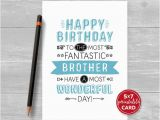 Free Printable Birthday Cards for Brother Printable Birthday Card Brother Happy Birthday to the Most