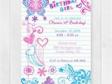 Free Printable Birthday Cards for Girls Notebook Doodles Tween Birthday Invitation Girl Birthday