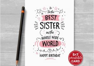 Free Printable Birthday Cards Sister Cool And Funny Printable Happy