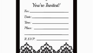 Free Printable Black and White Birthday Invitations Black and White Birthday Invitation Template Free
