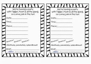 Free Printable Black And White Birthday Invitations Best