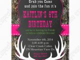 Free Printable Camouflage Birthday Invitations Camo Girl Printable Invitation Hunting Realtree Diy