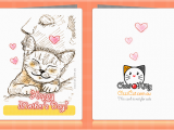 Free Printable Cat Birthday Cards 7 Best Images Of Printable Mother 39 S Day Greeting Cards