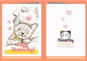 Free Printable Cat Birthday Cards 7 Best Images Of Mother 39 S Day Greeting