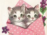 Free Printable Cat Birthday Cards Unsigned Marjorie Cooper Birthday Card Ax 43
