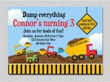 Free Printable Construction Birthday Invitations Construction Birthday Invitation Boys Truck Birthday Party