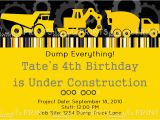 Free Printable Construction Birthday Invitations Construction Truck Printable Invite Dimple Prints Shop