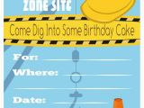 Free Printable Construction Birthday Invitations Free Printable Construction Birthday Invitations