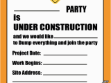 Free Printable Construction Birthday Invitations Free Printable Construction Party Invitation Printable