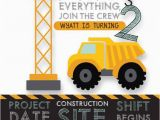 Free Printable Construction Birthday Invitations Printable Construction Birthday Invitation Dump Truck