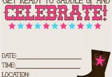 Free Printable Cowboy Birthday Invitations 11 Beautiful and Unique Looking Western Birthday
