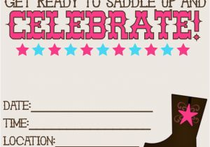 Free Printable Cowboy Birthday Invitations 11 Beautiful And Unique Looking Western