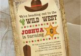 Free Printable Cowboy Birthday Invitations Cowboy Wild West Birthday Party Invitation From 0 80 Each