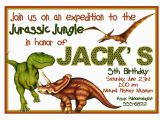 Free Printable Dinosaur Birthday Invitations Free Printable Dinosaur Birthday Invitation