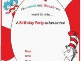 Free Printable Dr Seuss Birthday Invitations Dr Seuss Birthday Invitation Free Template Invitations