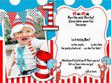 Free Printable Dr Seuss Birthday Invitations Free Printable Dr Seuss 1st Birthday Invitation Template