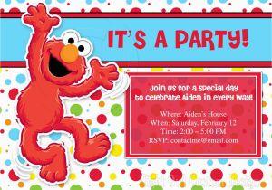 Free Printable Elmo Birthday Invitations Template Party Templates