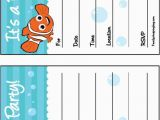 Free Printable Finding Nemo Birthday Invitations 150 Best Images About Nemo Birthday Printables On Pinterest