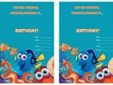 Free Printable Finding Nemo Birthday Invitations Finding Dory Birthday Invitations Birthday Printable