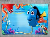 Free Printable Finding Nemo Birthday Invitations Finding Dory Thank You Card Instant Download Finding Nemo