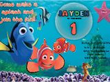 Free Printable Finding Nemo Birthday Invitations Finding Nemo Birthday Invitation Printable File Diy
