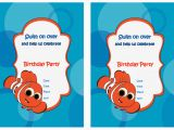 Free Printable Finding Nemo Birthday Invitations Finding Nemo Birthday Invitations Birthday Printable