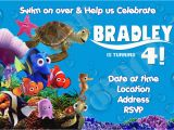 Free Printable Finding Nemo Birthday Invitations Finding Nemo Birthday Invitations Template Best Template