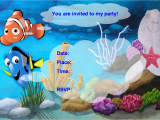 Free Printable Finding Nemo Birthday Invitations Finding Nemo Birthday Party Invitation Free Pdf