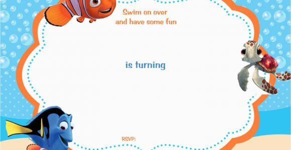 Free Printable Finding Nemo Birthday Invitations Free Printable Finding Nemo Birthday Invitation