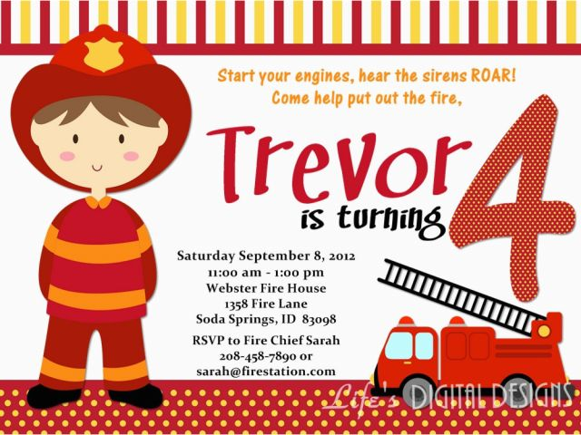 Fireman Sam Invitation Template Free Letter Bestkitchenview Co