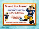 Free Printable Fireman Sam Birthday Invitations Fireman Sam Birthday Party Invitation by Estyinvitestudio