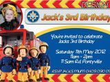 Free Printable Fireman Sam Birthday Invitations Personalised Fireman Sam Birthday Invitation Party Invite