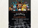 Free Printable Five Nights at Freddy S Birthday Invitations Five Nights at Freddy 39 S Invitation Five Nights by
