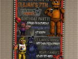 Free Printable Five Nights at Freddy S Birthday Invitations Five Nights at Freddy 39 S Invitation You Print Invitation