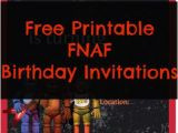 Free Printable Five Nights at Freddy S Birthday Invitations Free Printable Five Nights at Freddy S Birthday