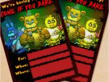 Free Printable Five Nights at Freddy S Birthday Invitations Free Printable Five Nights at Freddy S Party Invitation