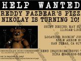 Free Printable Five Nights at Freddy S Birthday Invitations Novel Concept Designs Five Nights at Freddy 39 S Video Game