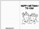 Free Printable Foldable Birthday Cards 7 Best Images Of Black and White Printable Birthday Cards