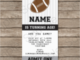 Free Printable Football Invitations for Birthday Party Black and Gray Silver Football Party Ticket Invitation