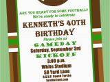 Free Printable Football Invitations for Birthday Party Football Birthday Party Invitation Printable or Printed with