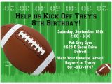Free Printable Football Invitations for Birthday Party Football Invitations Birthday Invitation Printed Party